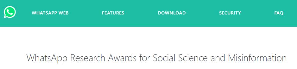 WhatsApp Research Awards