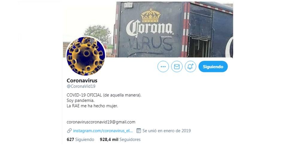 Coronavirus de Twitter @CoronaVid19