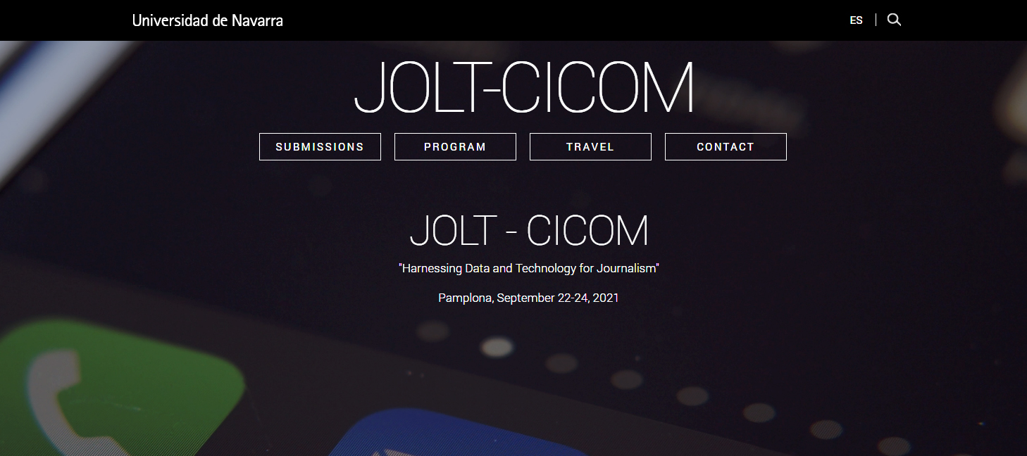"""JOLT-CICOM 2021 Conference """"Harnessing Data and Technology for Journalism"""""""