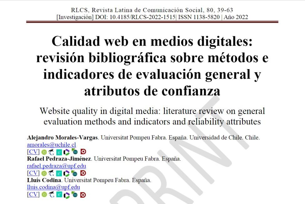 Cabecera Revista Latina de Comunicación Social