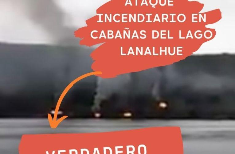 Incendio en cabañas del Lago Lanalhue