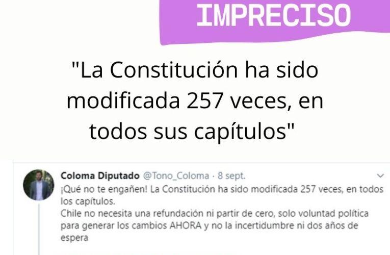 ¿Ha sido modificada 257 veces la Constitución?