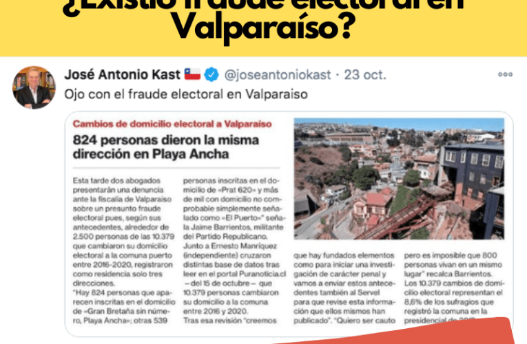 ¿Existió fraude electoral en Valparaíso?