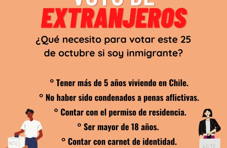 ¿Qué requisitos deben cumplir los extranjeros para votar en el plebiscito?