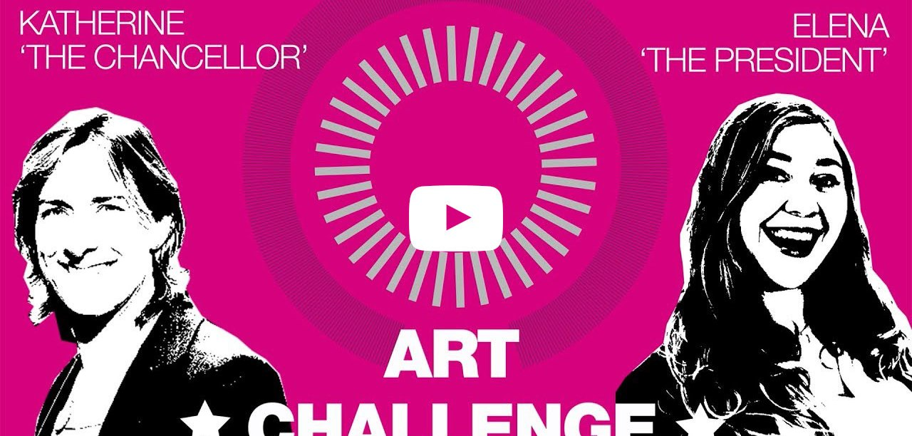 Katherine Grainger and Elena Saldana-Quintans take the art challenge