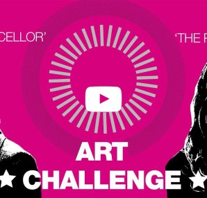 Katherine Grainger and Elena Saldana-Quintans take the art challenge