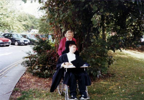 Daniel with his nan at graduation