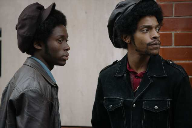 Sheyi Cole as Alex Wheatle (left) and Khali Best as Badger (right) in Alex Wheatle