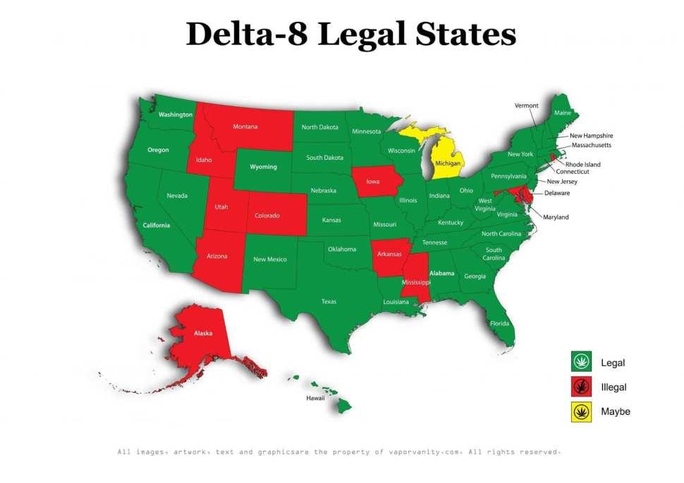 delta 8 legal map
