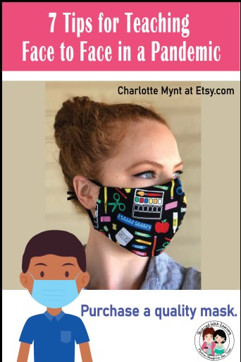 Charlotte Mynt on Etsy.com has many stylish and practical masks for teachers.