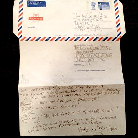 Letter by Dan Treacy of TVP to/via Jesse Steinchen