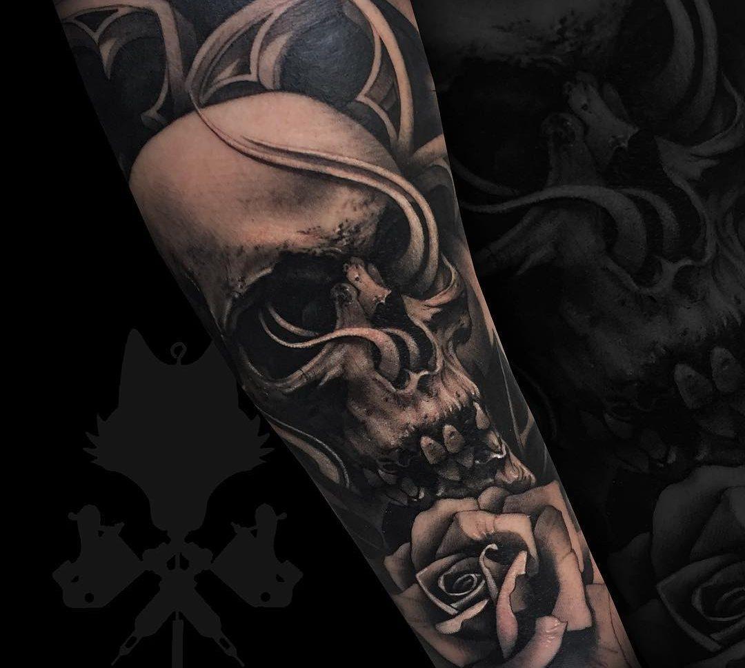 Calaveras Realismo Antebrazo Obsession Tattoo
