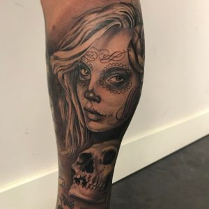 Tatuaje De Catrina Obsession Tattoo
