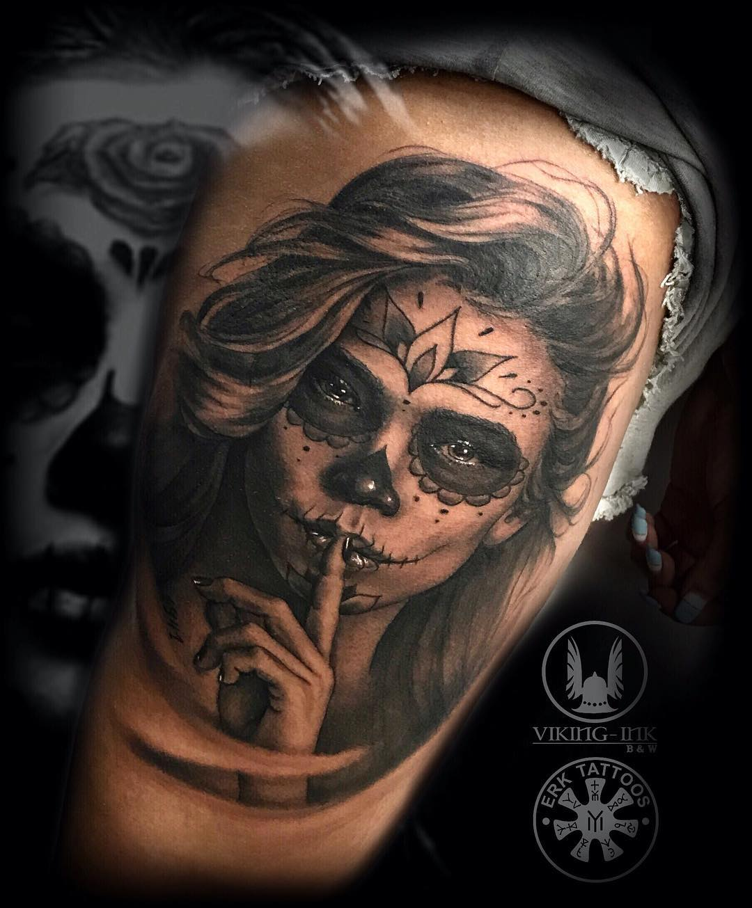 Tatuaje De Catrina Obsession Tattoo