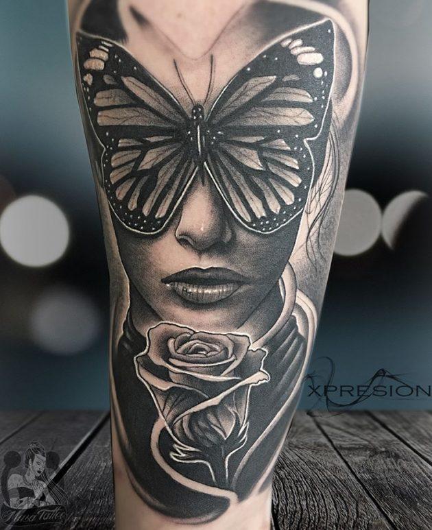Tatuaje De Mariposa Con Flores Obsession Tattoo