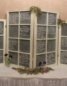 Vintage window seating chart also wedding obsessively crafty rh obsessivelycrafty wordpress