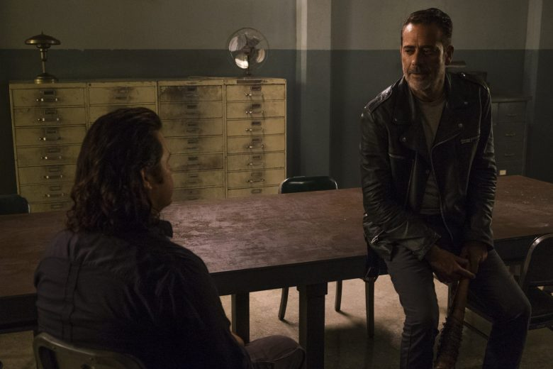 Negan talks to Eugene