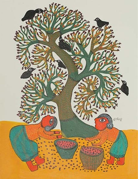 Gond painting by Durgabai Vyam © Sarmaya Arts Foundation