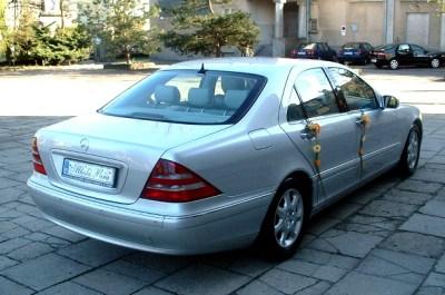 Jak zaoszczędzić na weselu - Auto do ślubu - Mercedes S