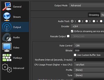 panel de ajustes configurable / obsproject.com