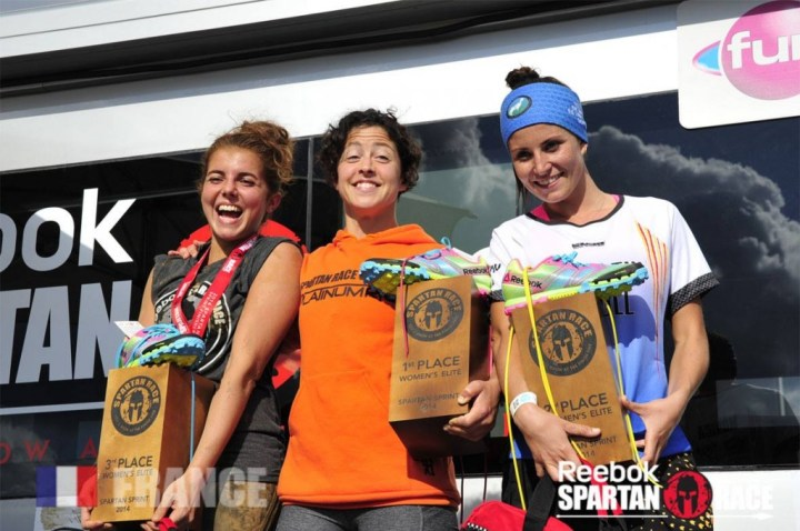 Podium des Élites femmes de la Spartan Race Sprint du Castellet 2014 - (c) Spartan Race