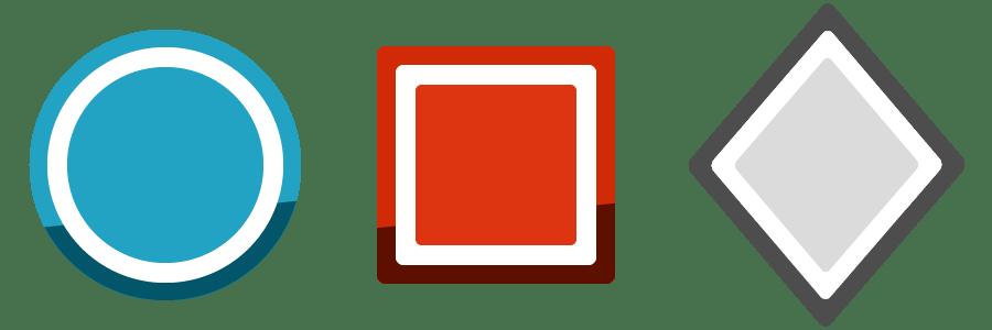 niveau de difficulté de Bleu à Rouge