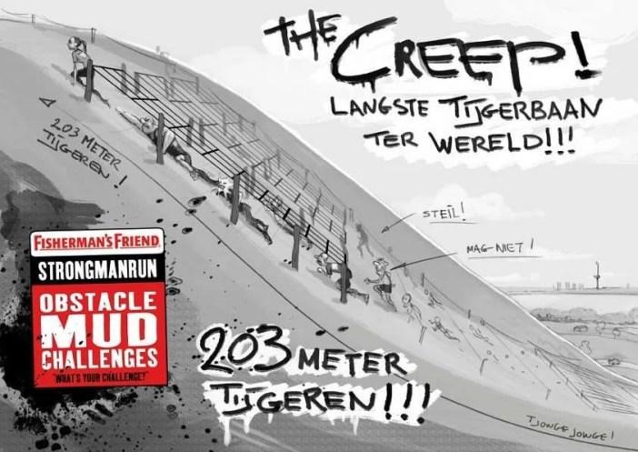 Langste tijgerbaan - The Creep