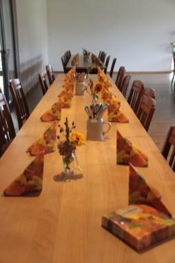 Die dekorierten Tische
