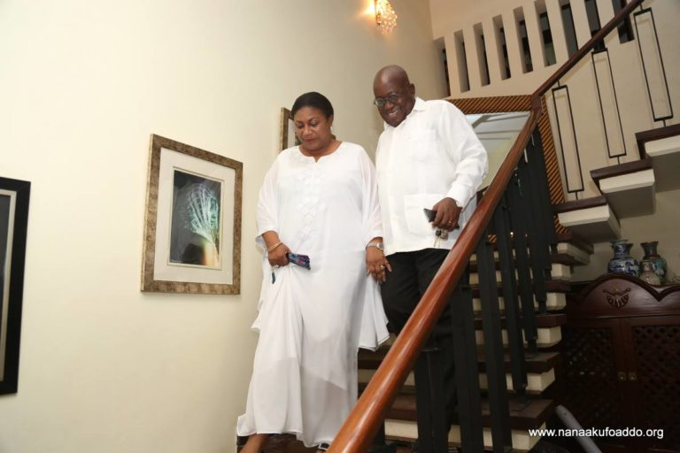 Nana Addo back home after near-accident on presidential jet