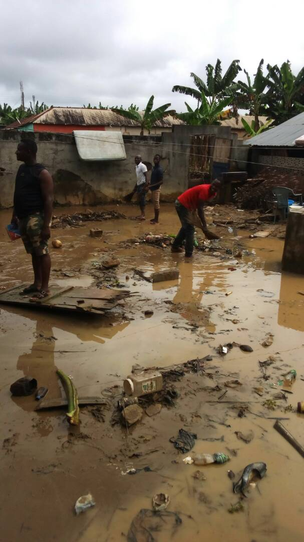 Nearly 300 people rendered homeless after Assin Fosu downpour