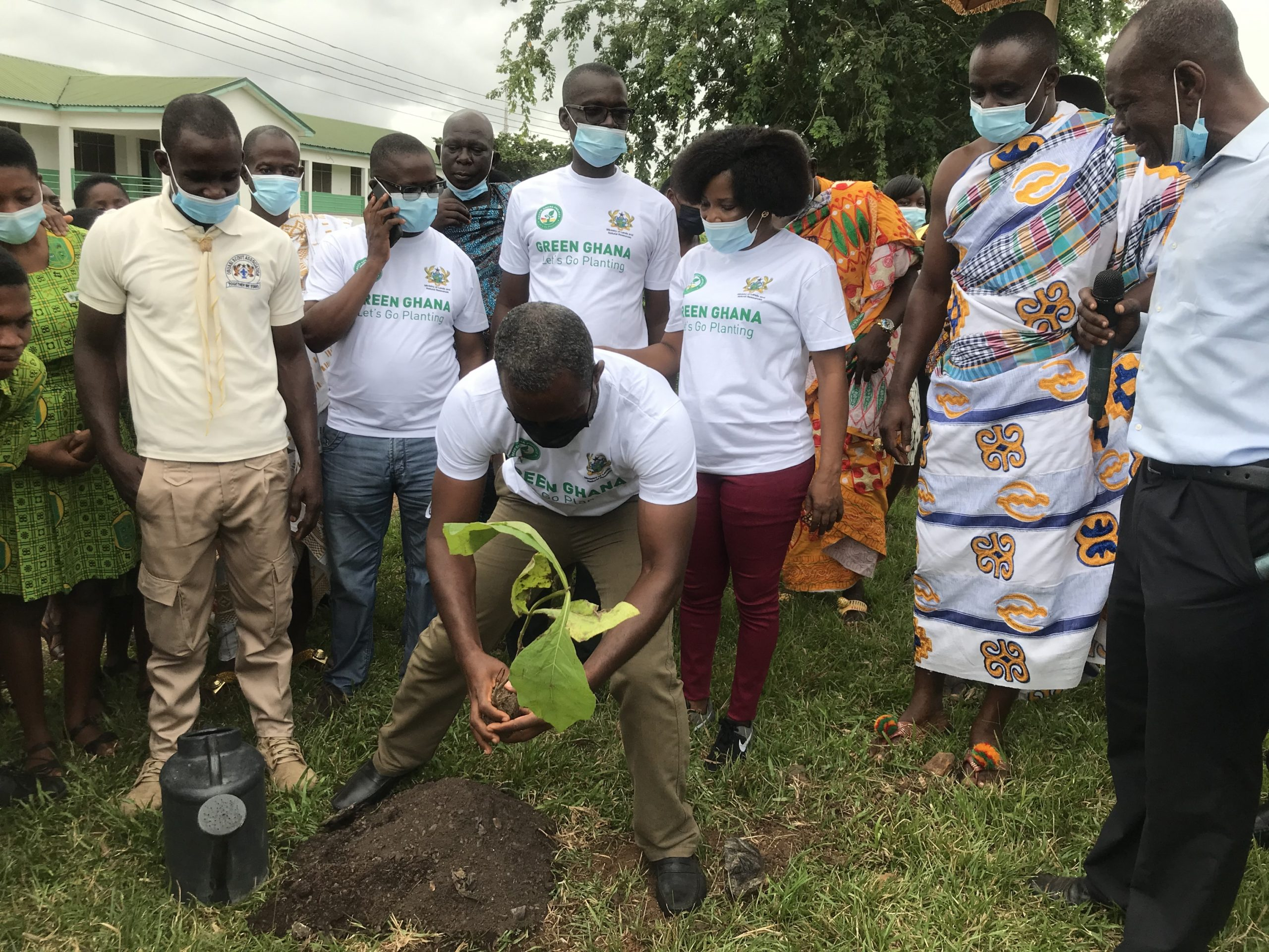 Obuasi East DCE, MP Take Part In Nationwide Tree Planting Exercise