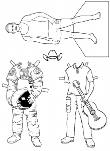 Scientist Paper Dolls
