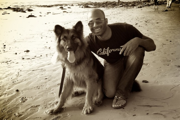 At the end of it all— Simba and I hanging out in Laguna Beach