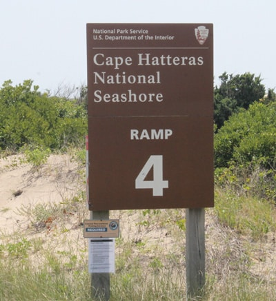 Hatteras Island Beach Access - ramp sign