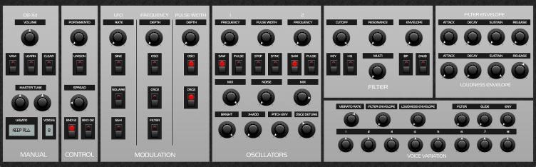 OB-Xd 1.3 Default Theme
