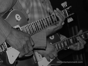 Guitar legend Hubert Sumlin and Bob Margolin photographed by Matt Artz on March 10, 2005 on stage at Kellys