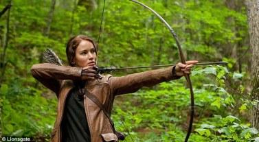 Jennifer Lawrence on the North Carolina set of 'The Hunger Games'