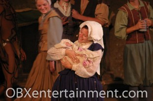 """Ozzie Artz of Kill Devil Hills starred as """"Baby Virginia Dare"""" in the christening scene in 'The Lost Colony' on August 18, 2007. (photo: Artz Music & Photography)"""