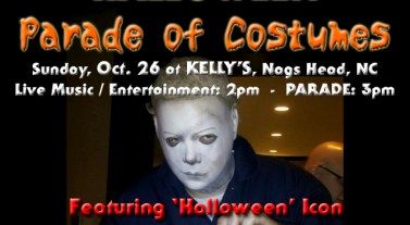 Meet Michael Myers at the Outer Banks Halloween Parade of Costumes on Oct. 26 at Kelly's in Nags Head!