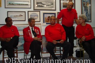 Members of the Tuskegee Airmen were honored in Nags Head, NC on February 4, 2004. (photo by Matt Artz)