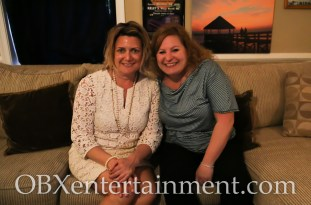 Sue Artz with Sweet T's owner Stacey Walters on the set of the OBX Entertainment series 'OBXE TV' on April 5, 2015. (photo by Matt Artz for OBXentertainment.com)