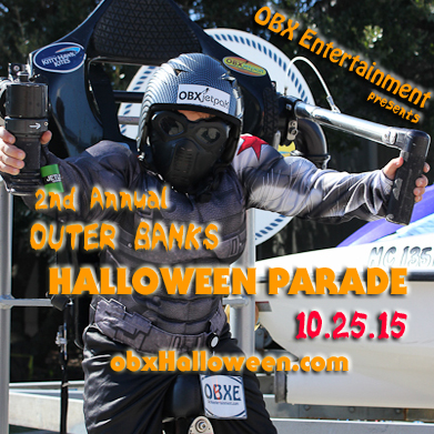 2nd Annual Outer Banks Halloween Parade of Costumes - Oct. 25, 2015 at Kelly's in Nags Head, NC