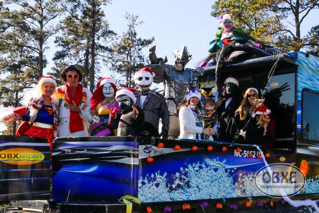 Outer Banks Halloween Parade float at Manteo Christmas Parade - Dec. 5, 2015 (photo by OBXentertainment.com)_0003