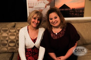 Marie's Maids owner Marie York with Sue Artz on the set of the OBX Entertainment series 'OBXE TV' on Feb. 19, 2016. (photo by Matt Artz for OBXentertainment.com)