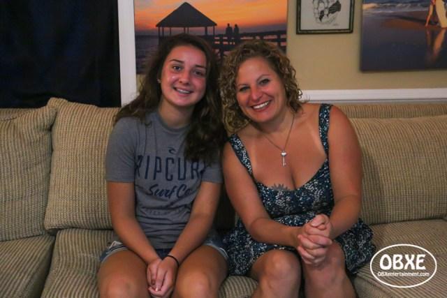 Powerlifting teen world champion Anna Zak with Sue Artz, photographed on August 15, 2018 by Matt Artz for OBX Entertainment.
