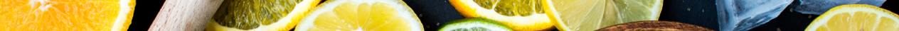 lemons, limes, oranges, and ice