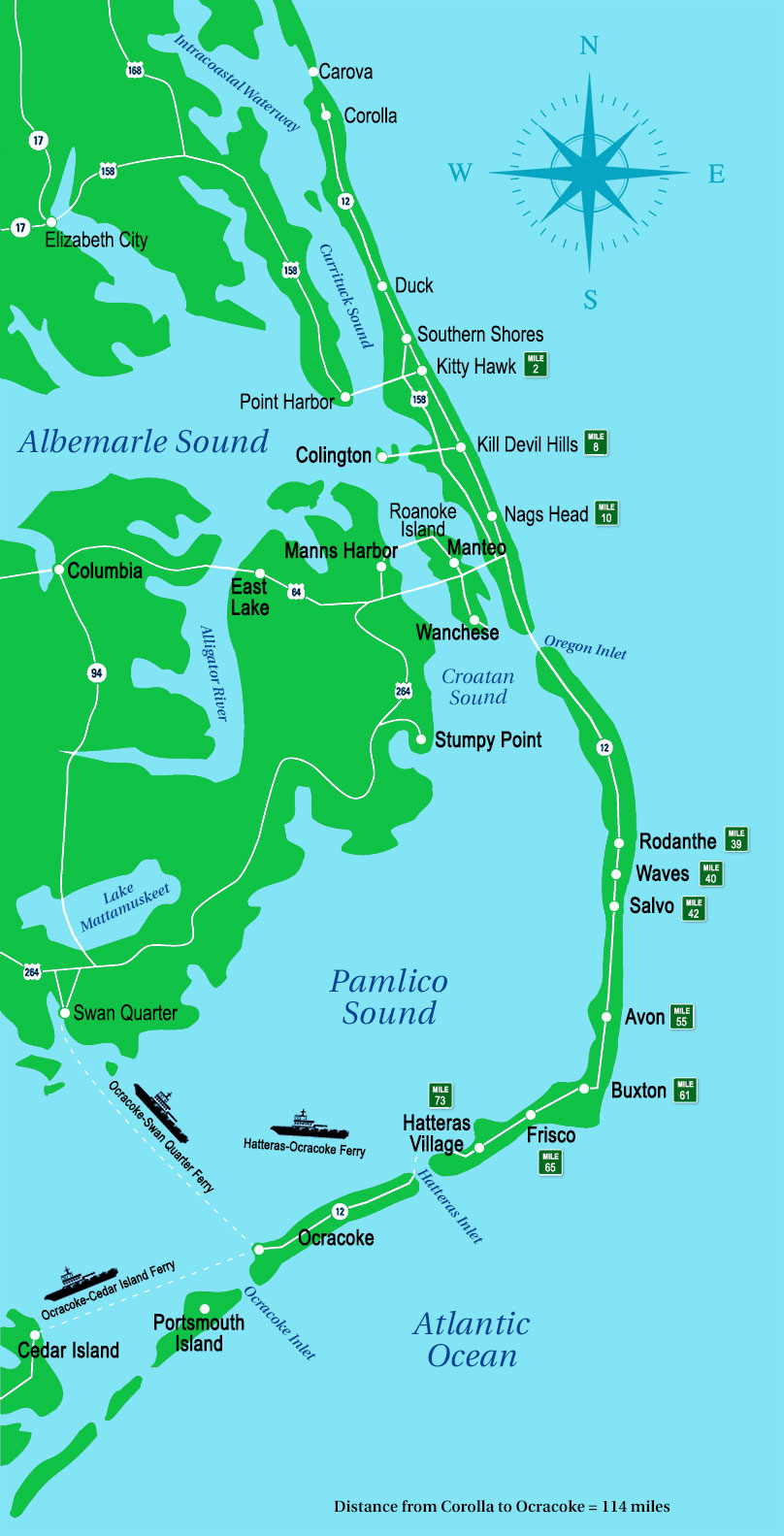 outer banks map outer