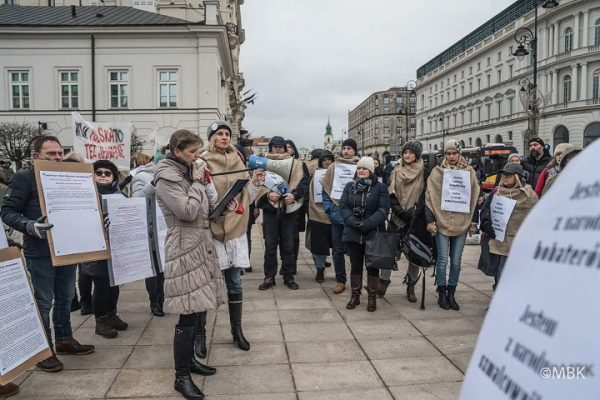 Ewa Borguńska (Obywatele RP) czyta opolsko - żydowskiej historii