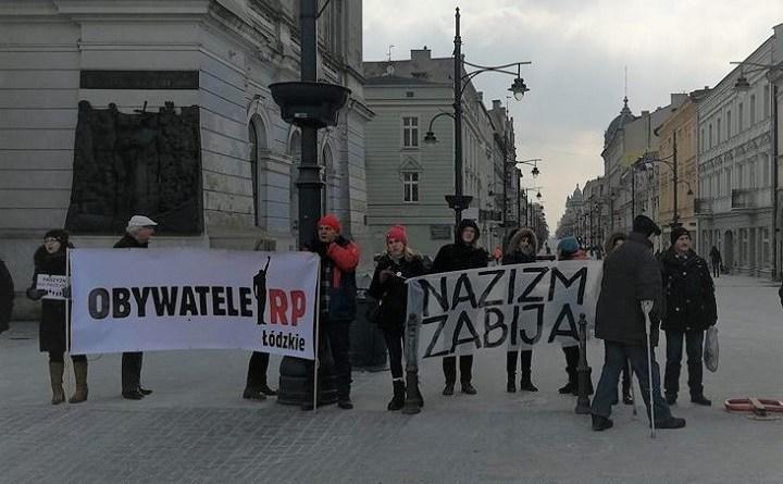 Obywatele RP na trasie marszu narodowców w Łodzi