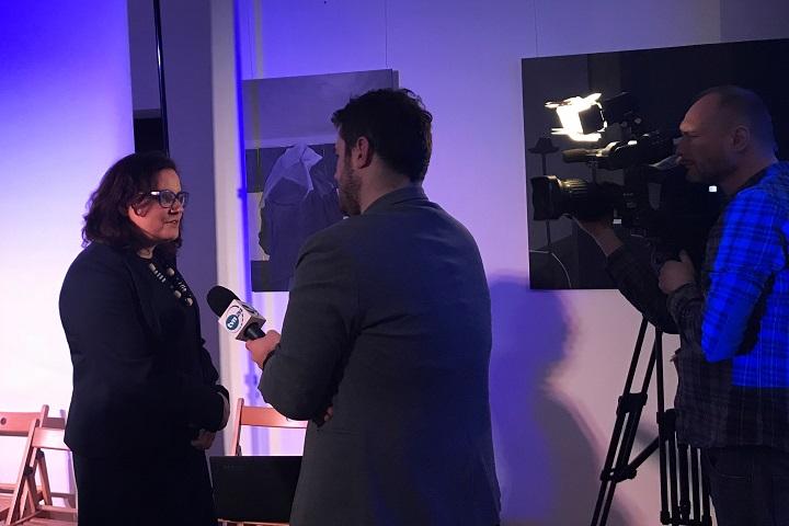 Ewa Lieder pospotkaniu udzieliła wywiadu telewizji TVN